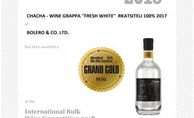 International Bulk Wine Competition 2018 Grand Gold Fresh White